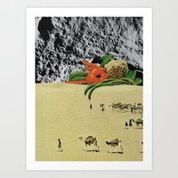 vegetables Art Prints featuring Vegetables by Holden Mesk