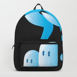 A trio of glassy blue ghosts Backpack