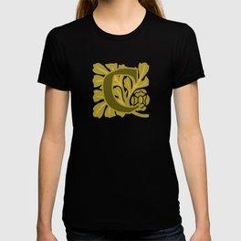 Ornate Initials Four - C T-shirt