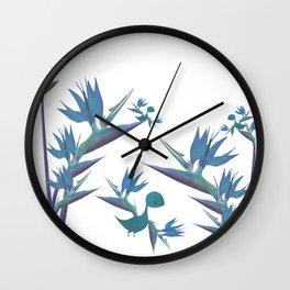 Floral Dragon Paradise 2 Wall Clock