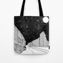 Night Sky in Middling City Tote Bag