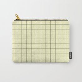 Yellow Grid Pattern Carry-All Pouch