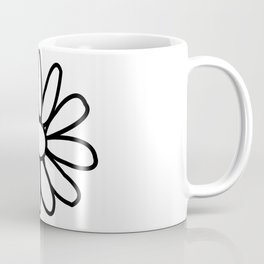 Imperfect Daisy Outline Coffee Mug