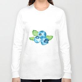 Watercolour Blueberry Long Sleeve T-shirt