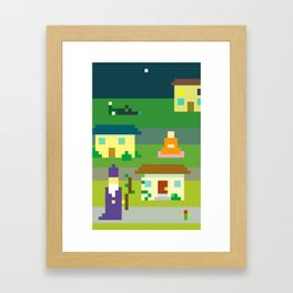 MAGIC SUBURBS Framed Art Print