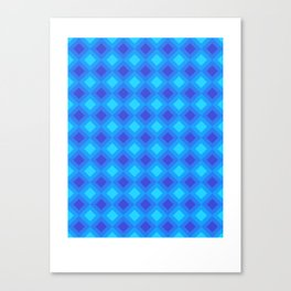 Dark Blue Cubes - Geometric Work Canvas Print