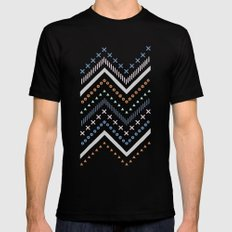 Mixed Zig Zag - in Cobalt Black MEDIUM Mens Fitted Tee