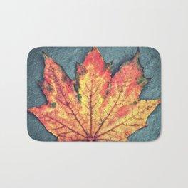 Leaf On Fire Bath Mat
