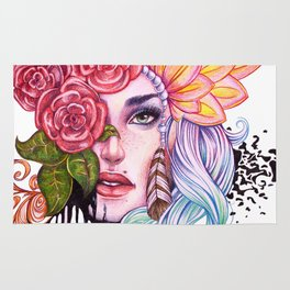Rose Lady Abstract Rug