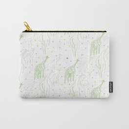Perspective Giraffes Carry-All Pouch