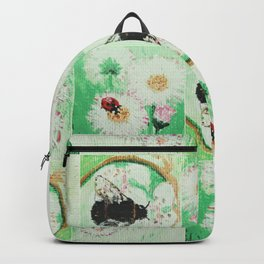 Bees and flowers Backpack