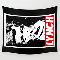 lynch Wall Tapestries featuring David Lynch smoke II by Spyck