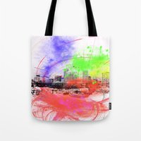 skyline Tote Bags featuring Skyline by Fine2art