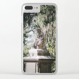 Bonaventure Cemetery - Statue of Eliza Wilhelmina Theus III Clear iPhone Case