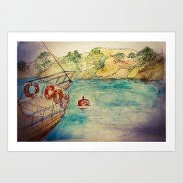 12 Islands Boat Trip Art Print