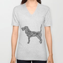 Dog from lips Unisex V-Neck