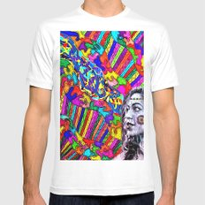 A Colorful Vision  White Mens Fitted Tee MEDIUM