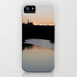 Sunset over Leith Edinburgh iPhone Case