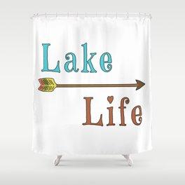 Lake Life - Summer Camp Camping Holiday Vacation Gift Shower Curtain