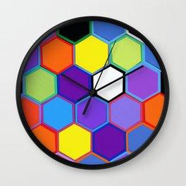 Happy Hexagons Wall Clock
