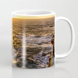 In Waves - Waves Crashing Into Rocks at Sunset In Big Sur Coffee Mug