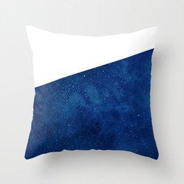 Galactic Blue Throw Pillow