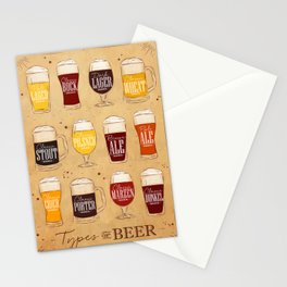 Poster types beer craft Stationery Cards