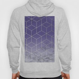 Geometric Marble Ultraviolet Purple Gold Hoody
