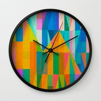 climbing Wall Clocks featuring By Climbing Colors by Fernando Vieira