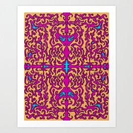 Psychedelic Flourishes I Art Print