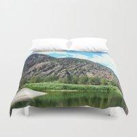 montana Duvet Covers featuring Montana Rock  by OrdinaryAdventures
