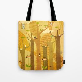 Musical Trees Tote Bag