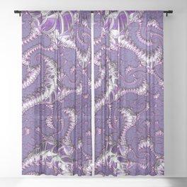 Purple Fractal Sheer Curtain