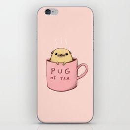 Pug of Tea iPhone Skin