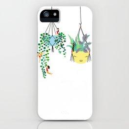 2 plants in hangers iPhone Case