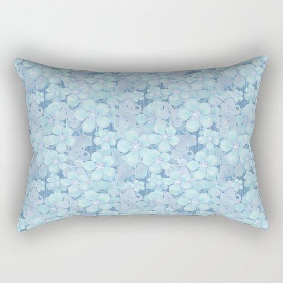 Light blue floral pattern . 1 Rectangular Pillow
