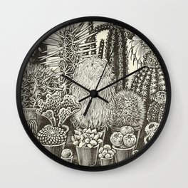 Cacti And Succulents Wall Clock