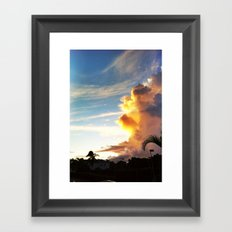 paradise Cloud Framed Art Print