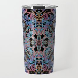 Mandala Water Dissolving into Earth Travel Mug