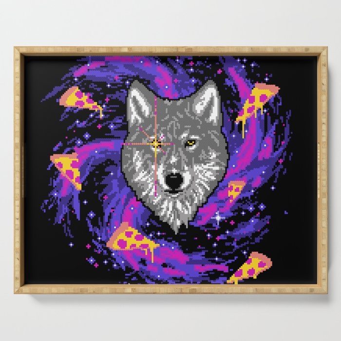 Galactic Pizza Wolf Serving Tray