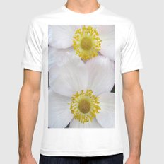 twin flower Mens Fitted Tee White MEDIUM
