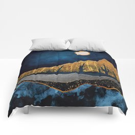 Midnight Desert Moon Comforters