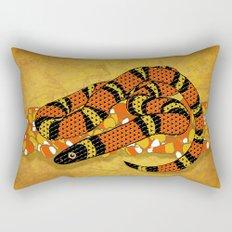 Mexican Candy Corn Snake Rectangular Pillow