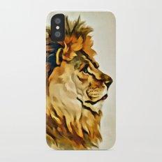 MAJESTIC LION PORTRAIT iPhone X Slim Case