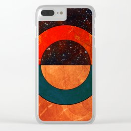 Abstract #129 Clear iPhone Case