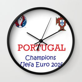 Champion Uefa Euro 2016 Portugal Wall Clock