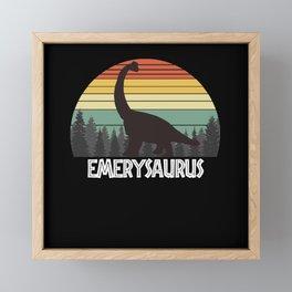 EMERYSAURUS EMERY SAURUS EMERY DINOSAUR Framed Mini Art Print