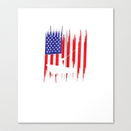 FISHING American Flag Design | USA Fishersman Boat Art  Zip Hoodie Canvas Print