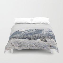 Frosty Flatirons Duvet Cover