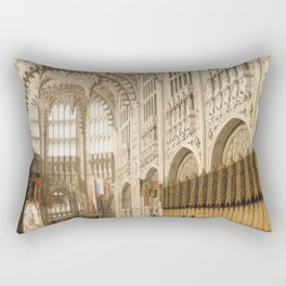 Canaletto - The Interior of Henry VII's Chapel in Westminster Abbey Rectangular Pillow